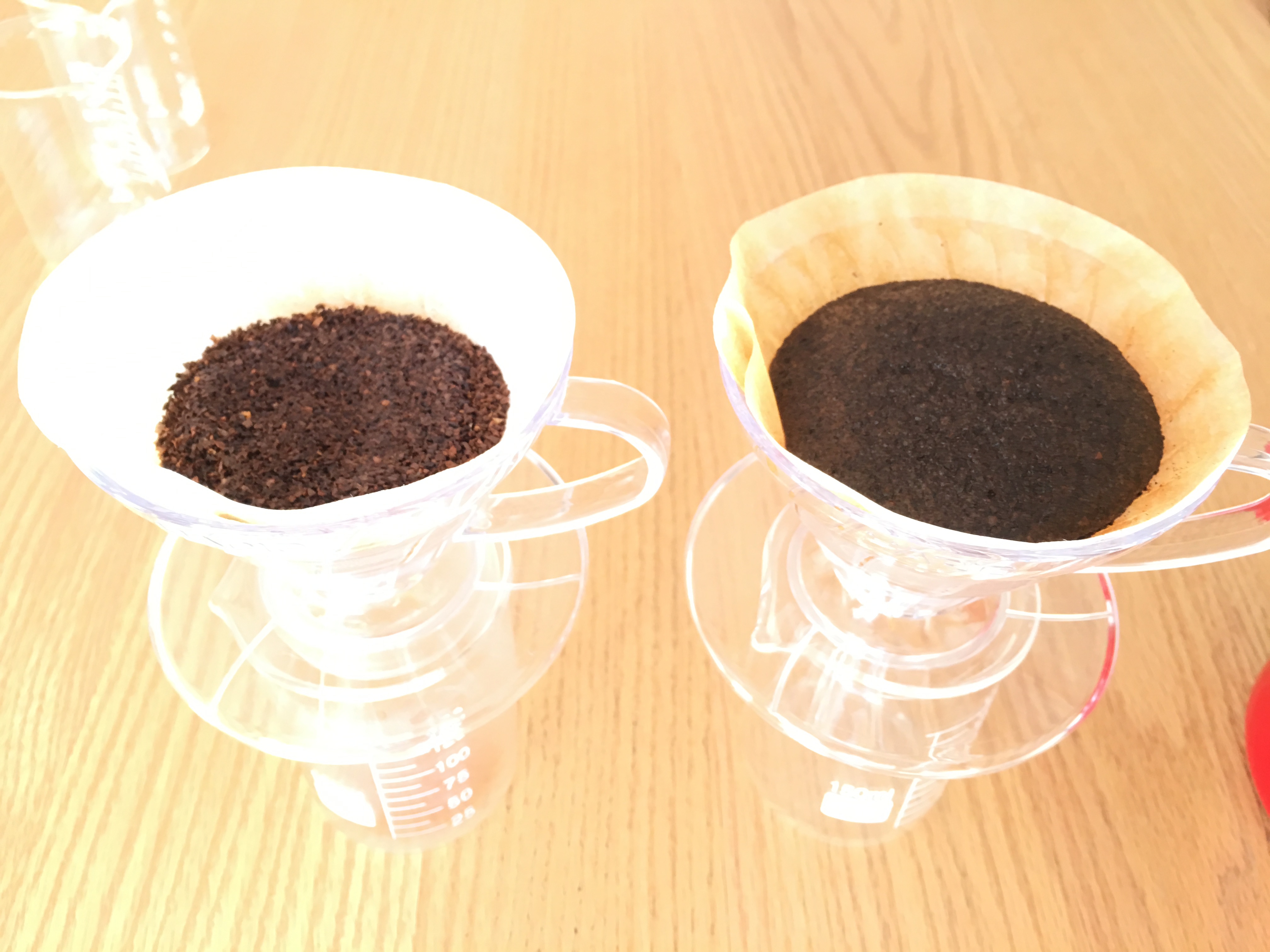 コーヒー豆を粉で買ったもの、豆から挽いたものを淹れ比べてみた